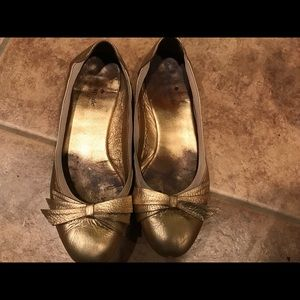 Kate Spade Gold Flats size 8